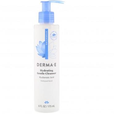 Derma E, 保湿効果のある低刺激洗浄剤、ヒアルロン酸、6 fl oz (175 ml)