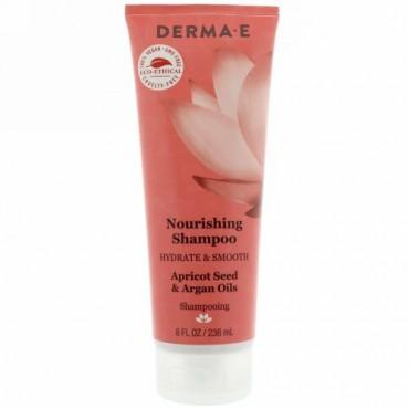 Derma E, Nourishing Shampoo, Apricot Seed & Argan Oils, 8 fl oz (236 ml) (Discontinued Item)