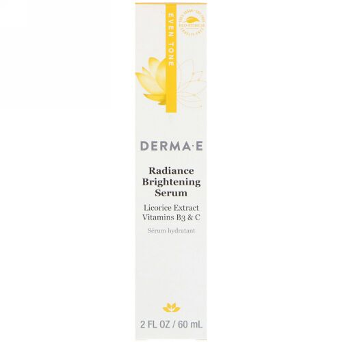 Derma E, ラディアンスブライトニングセラム、均一の肌色、2 fl oz (60 ml) (Discontinued Item)