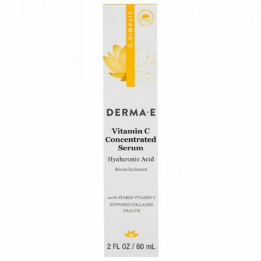 Derma E, ビタミンC  濃縮セラム、ヒアルロン酸