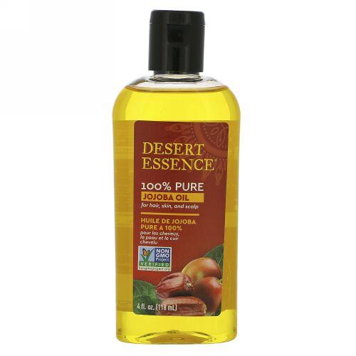Desert Essence, 100%ピュアホホバオイル、髪・肌・頭皮用、118 ml(4 fl oz)
