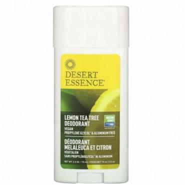 Desert Essence, デオドラント、レモンティーツリー、2.5オンス(70 ml)