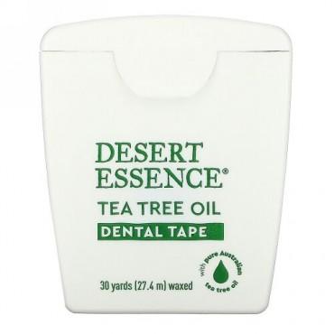 Desert Essence, ティーツリーオイル・デンタルテープ、ワックス、30ヤード (27.4 m)
