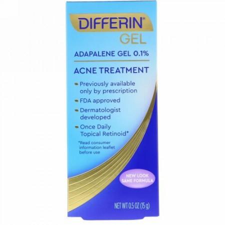 Differin, Adapaleneジェル 0.1%、アクネトリートメント、0.5オンス (15 g)