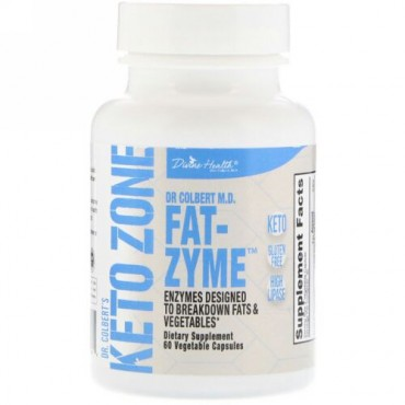 Divine Health, Dr.Colbert'sケトゾーン、Fat-Zyme、植物性カプセル60錠 (Discontinued Item)