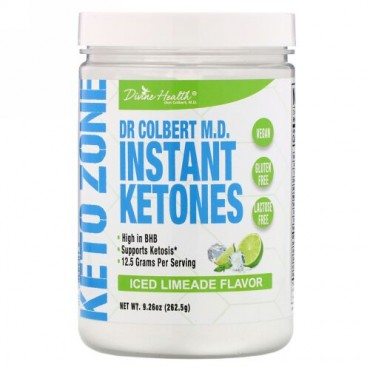 Divine Health, Dr. Colbert's Keto Zone, Instant Ketones, Iced Limeade , 9.26 oz (262.5 g) (Discontinued Item)
