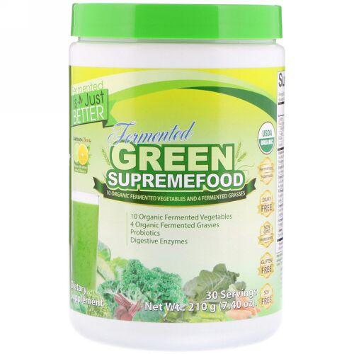 Divine Health, Fermented Green SupremeFood, Lemon-Lime, 7.40 oz (210 g)  (Discontinued Item)