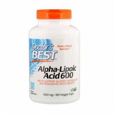 Doctor's Best, アルファリポ酸、600 mg、180ベジカプセル