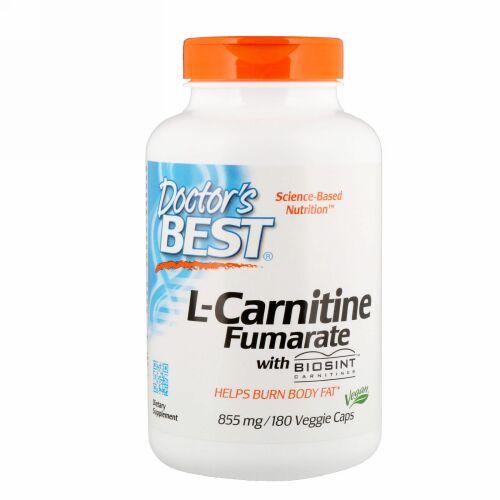 Doctor's Best, Biosintカルニチン配合 L-カルニチンフマル酸、855 mg、植物性カプセル 180粒