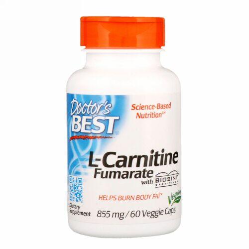 Doctor's Best, Biosintカルニチン配合 L-カルニチンフマル酸、855 mg、植物性カプセル 60粒