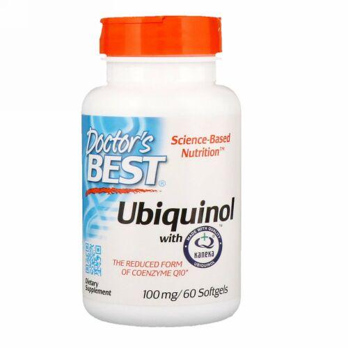 Doctor's Best, カネカ入りユビキノール、100 mg、ソフトジェル60錠