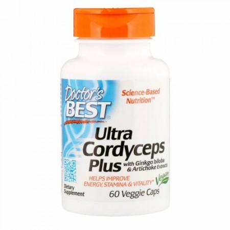Doctor's Best, Ultra Cordyceps Plus、植物性カプセル 60 粒