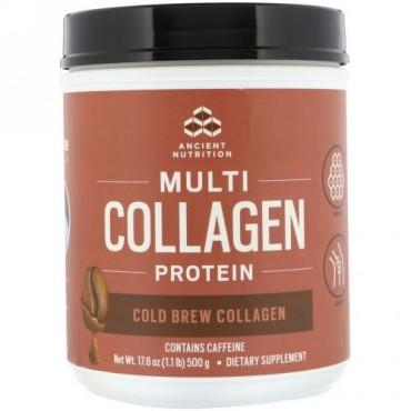 Dr. Axe / Ancient Nutrition, マルチコラーゲンプロテイン、コールドブリューコラーゲン、500g(1.1lbs)