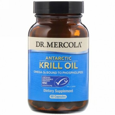 Dr. Mercola, ナンキョクオキアミ油、60錠