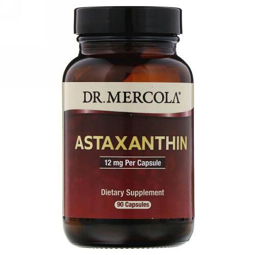 Dr. Mercola, Astaxanthin, 12mg, カプセル90粒