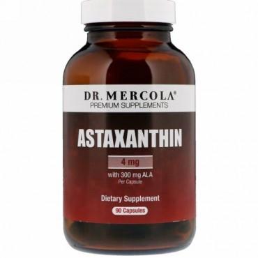 Dr. Mercola, アスタキサンチン、4 mg、90カプセル