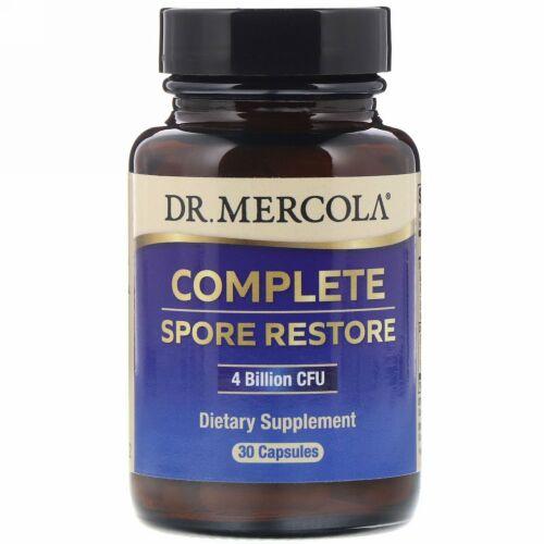 Dr. Mercola, Complete Spore Restore(コンプリートスポアレストア)、40億のCFU、30カプセル
