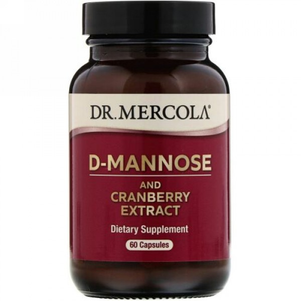 Dr. Mercola, D-マンノース&クランベリーエキス、カプセル60粒