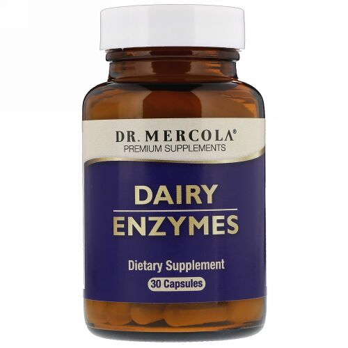 Dr. Mercola, Dairy Enzyme, 30 Capsules (Discontinued Item)