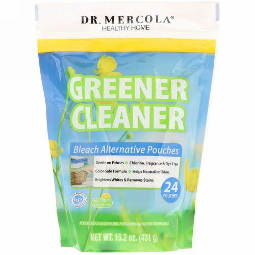 Dr. Mercola, グリーナークリーナー、漂白剤代替ポーチ、24ポーチ