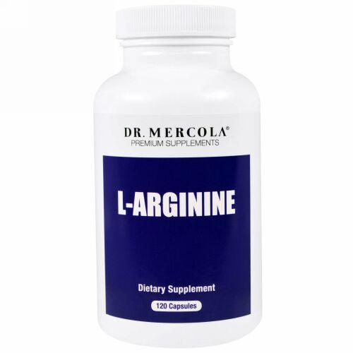 Dr. Mercola, L-アルギニン、120カプセル (Discontinued Item)