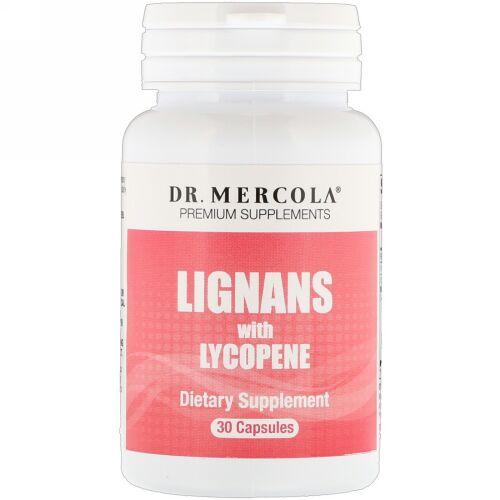 Dr. Mercola, リコピン配合リグナン、30カプセル (Discontinued Item)