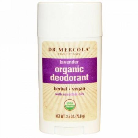 Dr. Mercola, オーガニック デオドラント、ラベンダー、2.5 oz (70.8 g) (Discontinued Item)