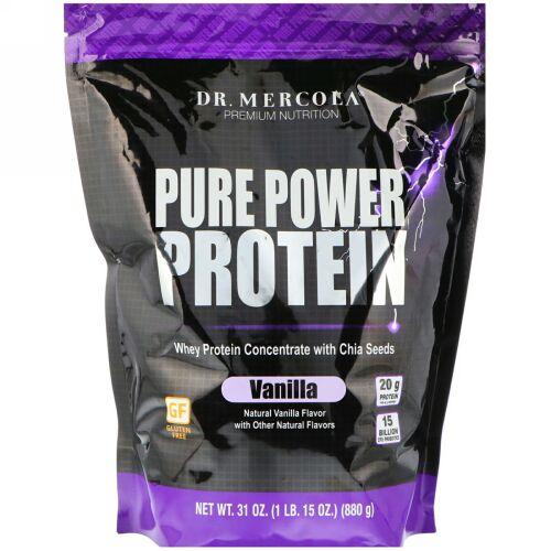 Dr. Mercola, ピュア パワー プロテイン、バニラフレーバー、31 oz (880 g) (Discontinued Item)