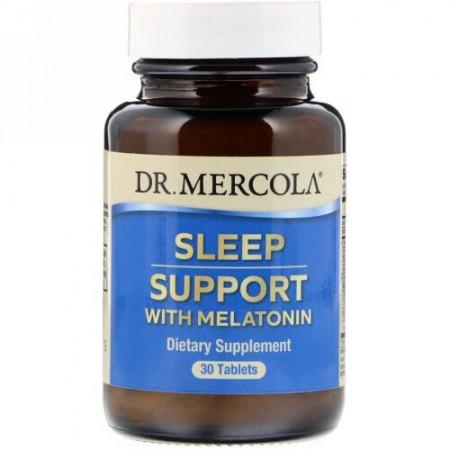 Dr. Mercola, メラトニンで睡眠サポート、30錠