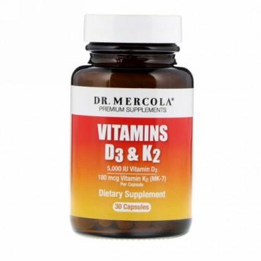 Dr. Mercola, ビタミンD3 & K2、30錠