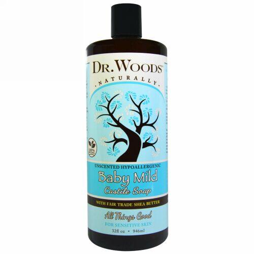 Dr. Woods, ベビーマイルド, カスティール石鹸, 無香料, 32液量オンス(946 ml)