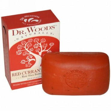Dr. Woods, 天然のシアバター 石鹸, フサスグリ・クローブ, 5.25 オンス (149 g)