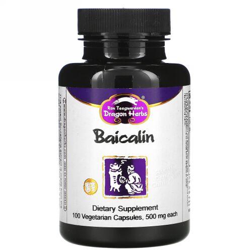 Dragon Herbs, バイカリン、425 mg、100ベジキャップ