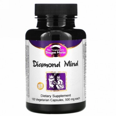 Dragon Herbs, Diamond Mind, 500 mg, 100 Vegetarian Capsules