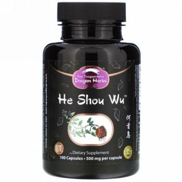 Dragon Herbs, He Shou Wu, 500 mg, 100 Capsules