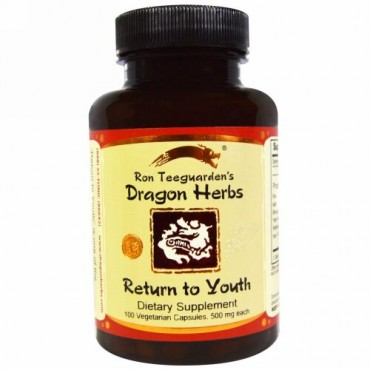 Dragon Herbs, 若返り(Return to Youth), 500 mg, 100 粒(ベジタリアンカプセル)