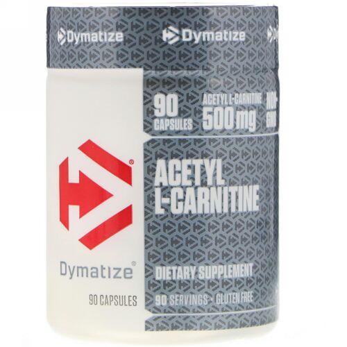 Dymatize Nutrition, アセチルL-カルニチン、500mg、90カプセル (Discontinued Item)