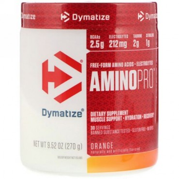 Dymatize Nutrition, アミノプロ、オレンジ、9.52 oz (270 g) (Discontinued Item)