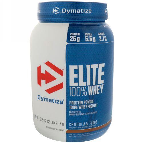 Dymatize Nutrition, Elite 100% Whey Protein Powder, Chocolate Fudge, 2 lbs (907 g) (Discontinued Item)
