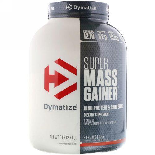 Dymatize Nutrition, Dymatize, Super Mass Gainer, Strawberry, 6 lbs (2.7 KG) (Discontinued Item)
