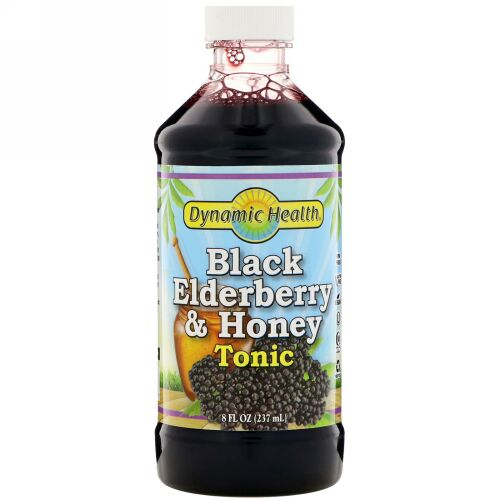 Dynamic Health  Laboratories, Black Elderberry & Honey Tonic, 8 fl oz (237 ml) (Discontinued Item)