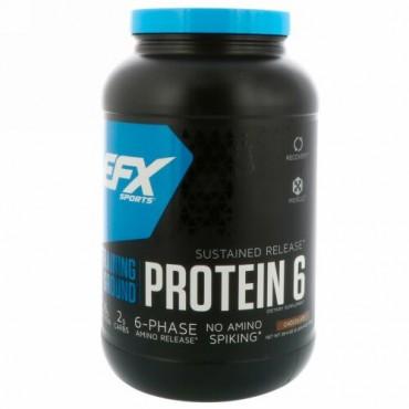 EFX Sports, トレーニングラウンド、プロテイン6、チョコレート、38.4 oz (1089 g) (Discontinued Item)