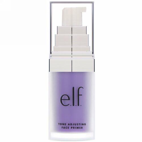 E.L.F., トーンアジャスティングフェイスプライマー(化粧下地) ブライトニングラベンダー 0.47 fl oz (14 ml)