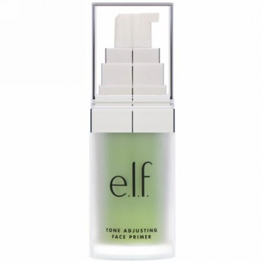 E.L.F., 色調を整えるフェイスプライマー(顔下塗り), 中和する緑色, 0.48オンス(13.7 g)