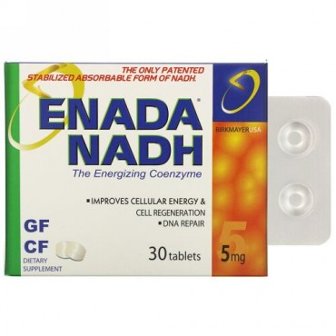 ENADA, NADH 5x、5mg、30粒