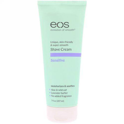EOS, Shave Cream, Sensitive,  7 fl oz (207 ml ) (Discontinued Item)