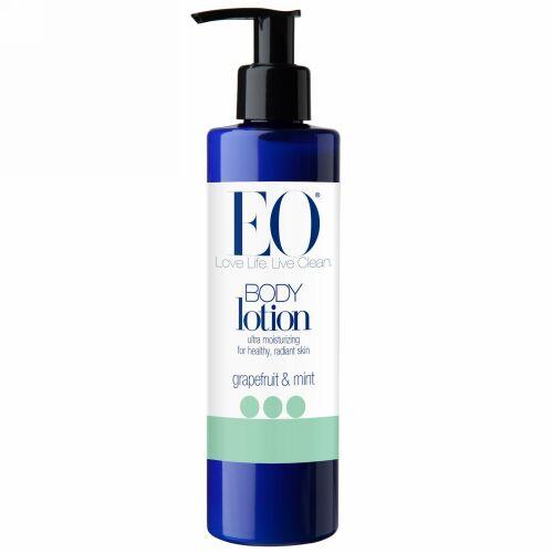 EO Products, エブリデーボディローション、 グレープフルーツ&ミント、 8液量オンス (240 ml) (Discontinued Item)