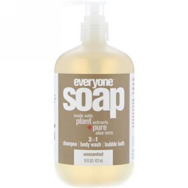 EO Products, エブリワンソープ、3イン1、無香、16液量オンス (473 ml) (Discontinued Item)