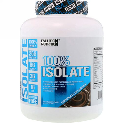 EVLution Nutrition, 100%アイソレート、チョコレートデカダンス、4 lb (1814 g) (Discontinued Item)
