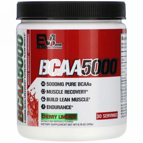 EVLution Nutrition, BCAA 5000, Cherry Limeade, 8.78 oz (249 g)